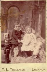Children with Queen Victoria toy?