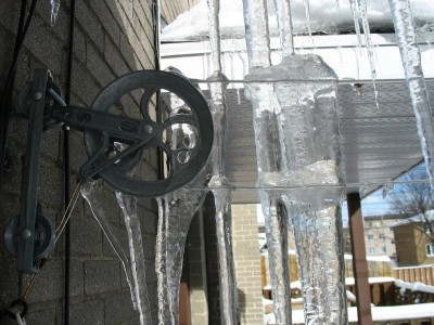 Hanging the Icicles Out to Dry