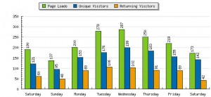 A week in the statistical life of knitnut.net