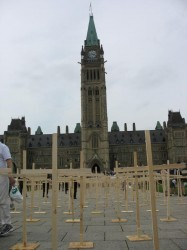 InSite crosses at Parliament Hill