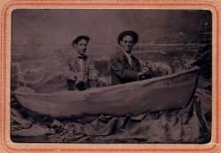 Tintype: Men in a boat