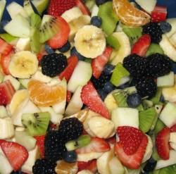 A mountain of fruit