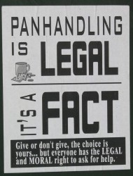 Panhandling is Legal