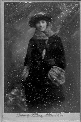 Pittaway Studio, Ottawa: woman in snow