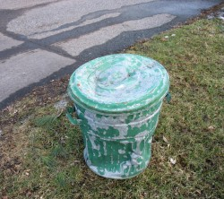 Antique garbage can