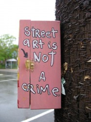 Street Art is Not a Crime