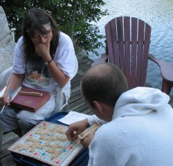 Scrabble on the deck