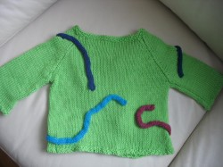 Back of snake charmer sweater