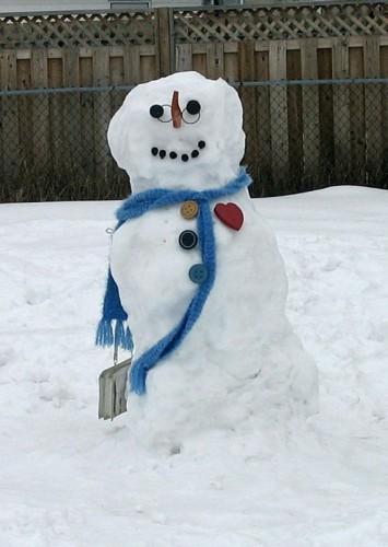 Snowwoman on her birthday