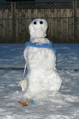 Snowwoman, age 4 days