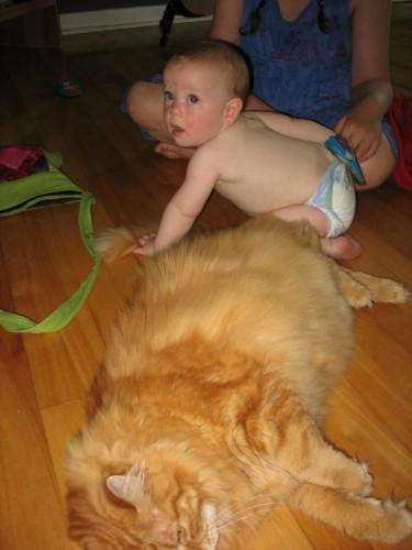 Duncan loves babies