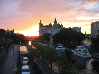 Sunset over the Rideau Canal