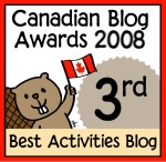 Canadian Blog Award 2008: 3rd Best Activities Blog