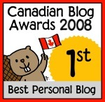Canadian Blog Awards 2008: Best Personal Blog